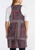 Plus Size Patchwork Paisley Hacci Vest alternate view