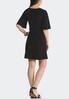 Black Tie Front Dress alternate view