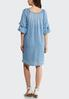 Plus Size Chambray Bubble Sleeve Dress alternate view