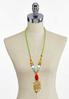 Palm Leaf Pendant Rope Necklace alternate view