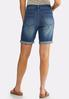 Distressed Denim Bermuda Shorts alternate view