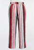 Plus Size Pastel Stripe Palazzo Pants alternate view