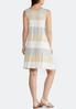 Plus Size Neutral Stripe Swing Dress alternate view