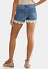 Crochet Hem Denim Shorts alternate view