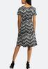 Embellished Seamed Chevron Dress alternate view