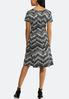 Plus Size Embellished Seamed Chevron Dress alternate view