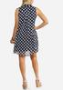Plus Size Navy Dotted Layered Dress alternate view