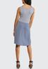 Plus Size Stripe Tie Front Knit Dress alternate view