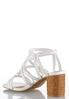Wide Width Caged Woven Heel Sandals alternate view