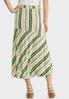 Plus Size Summer Stripe Faux Wrap Skirt alternate view