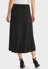 Plus Size Faux Wrap Midi Skirt alternate view