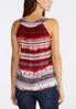 Plus Size Ombre Border Print Tank alternate view