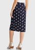 Plus Size Polka Dot Pencil Skirt alternate view