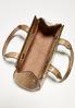 Faux Ostrich Metal Frame Shoulder Bag alternate view
