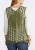 Plus Size Crochet Tie Front Vest alternate view