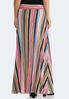 Plus Size Multi Stripe Maxi Skirt alternate view