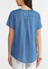 Plus Size Embellished Chambray Top alternate view