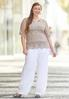 Plus Size Crochet Flare Sleeve Top alternate view