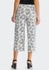 Cropped Leaf Palazzo Pants alternate view