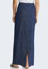 Lightweight Denim Maxi Skirt alternate view