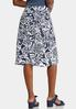 Plus Size Navy Floral Front Tie Skirt alternate view