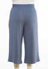 Plus Size Cropped Soft Stripe Pants alternate view