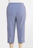 Plus Size Cropped Stripe Bengaline Pants alternate view