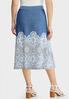 Plus Size Blue Puff Medallion Skirt alternate view
