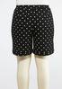 Plus Size Pull- On Polka Dot Shorts alternate view
