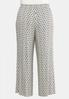 Plus Size Dotted Stripe Palazzo Pants alternate view