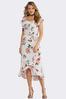 Crepe Ruffled Floral Dress alternate view