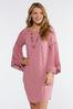 Pink Lace Trim Peasant Dress alternate view