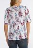 Plus Size Americana Floral Paisley Top alternate view