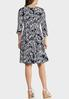 Plus Size Seamed Puff Print Cold Shoulder Dress alternate view