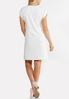 White Puff Print Shift Dress alternate view