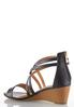 Wide Width Cross Strap Wedge Sandals alternate view