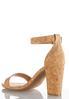 Wide Width Metallic Cork Heeled Sandals alternate view