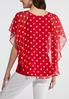 Plus Size Red Polka Dot Capelet alternate view