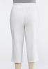 Plus Size White Terry Cropped Pants alternate view