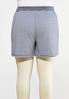 Plus Size Stripe Drawstring Shorts alternate view