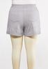 Plus Size Faded Wash French Terry Shorts alternate view