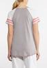 Plus Size Sporty Stripe Sleeve Tee alternate view