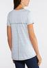 Plus Size Seamed Lattice Neck Tee alternate view