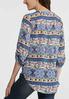 Plus Size Decorative Stripe Pullover Top alternate view