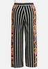 Plus Size Floral Striped Palazzo Pants alternate view