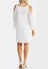 Plus Size Crochet Cold Shoulder Dress alternate view