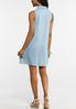 Plus Size Dotted Chambray Shirt Dress alternate view