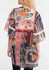 Mixed Floral Crochet Trim Kimono alternate view