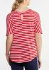 Plus Size Red And White Stripe Top alternate view