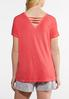 Plus Size Side Tie V- Neck Tee alternate view
